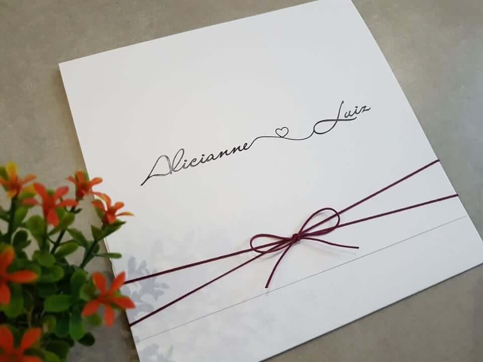 o convite no estilo moderno de casamento