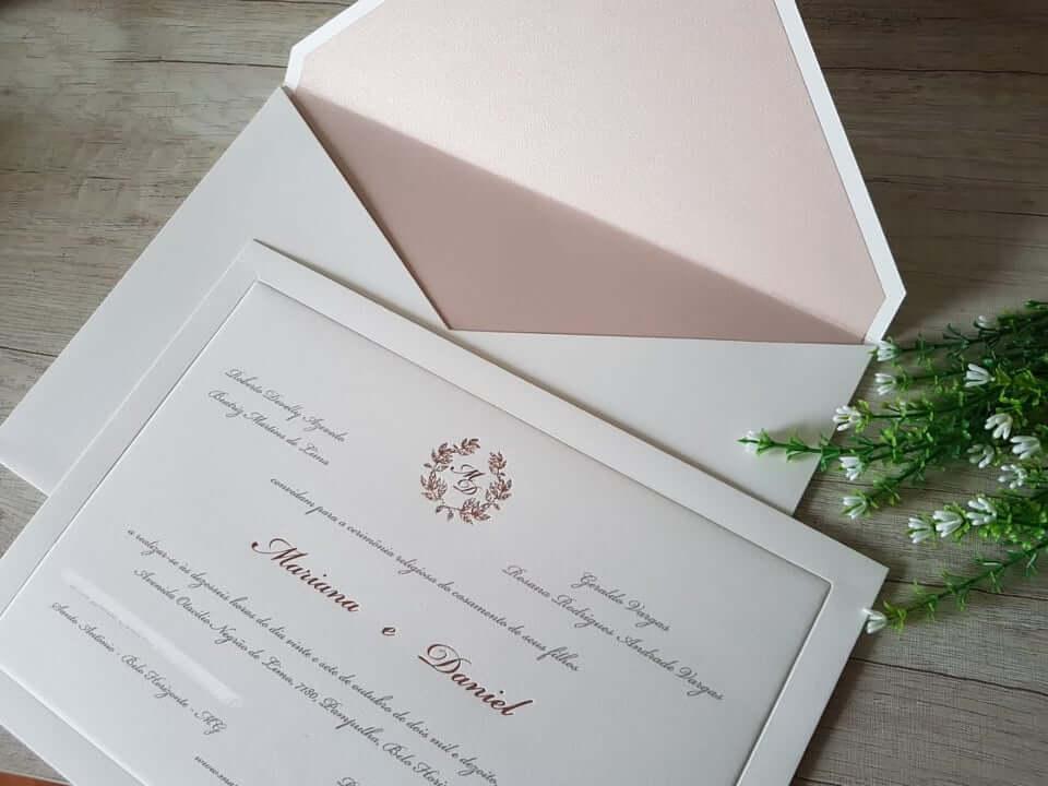 convite de casamento no estilo clássico