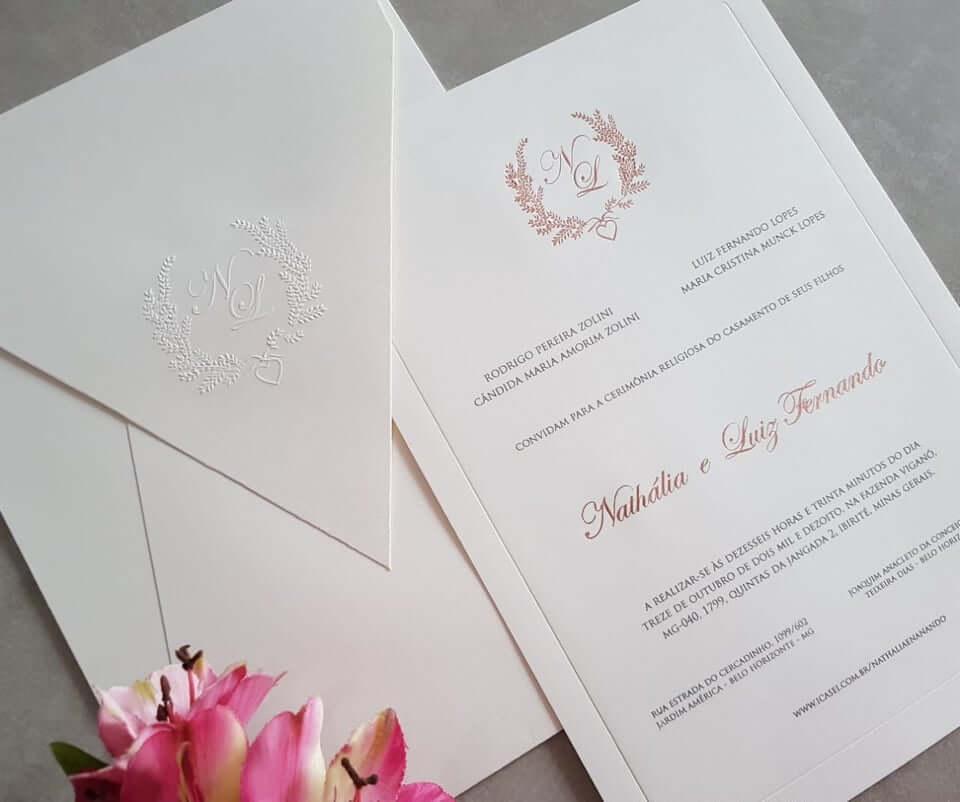 Melhores opçoes de convite para o seu casamento